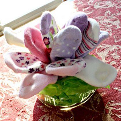 זר פרחים מגרבי תינוק