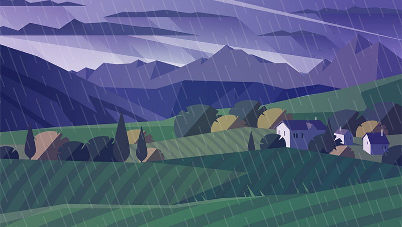 גשם, שמש, לילה – פתרון