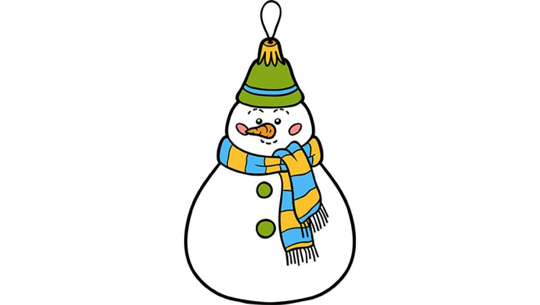 ציור איש שלג